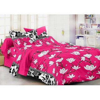 Weave Well 3D Double Bedsheet with 2 Pillow Covers AHF-APTZDB2