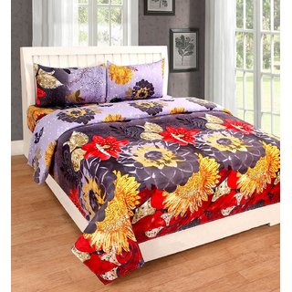 Weave Well 3D Double Bedsheet with 2 Pillow Covers AHF-APTZDB3