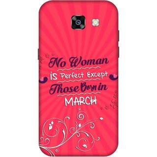 Print Opera Hard Plastic Designer Printed Phone Cover for  Samsung Galaxy A5 (2017) Perfect woman born in march