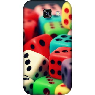 Print Opera Hard Plastic Designer Printed Phone Cover for  Samsung Galaxy A7 (2017) Colorful multiples dice