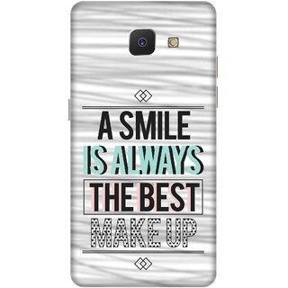 Print Opera Hard Plastic Designer Printed Phone Cover for   Samsung Galaxy J5 Prime/Samsung Galaxy On5 2016 A smile is always the best makeup