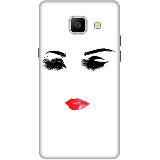 Print Opera Hard Plastic Designer Printed Phone Cover for   Samsung Galaxy A9 Pro (2016) Eyes and lips of girl