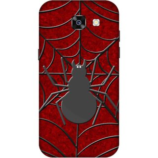 Print Opera Hard Plastic Designer Printed Phone Cover for  Samsung Galaxy A7 (2017) Spider with web