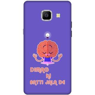 Print Opera Hard Plastic Designer Printed Phone Cover for   Samsung Galaxy A9 Pro (2016) Dimag ki batti jala de