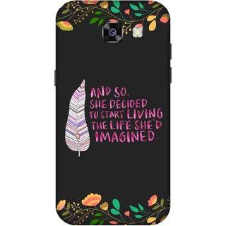 Print Opera Hard Plastic Designer Printed Phone Cover for  Samsung Galaxy A7 (2017) Colorful leaf