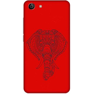 Print Opera Hard Plastic Designer Printed Phone Cover for   Vivo Y53 Artistic elephant with red background