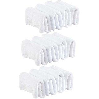 White Cotton Face Towel (Set of 10)