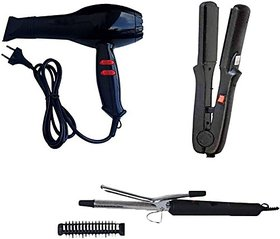 Combo pack of Chaoba Hair Dryer, Curler, 522 Straightener
