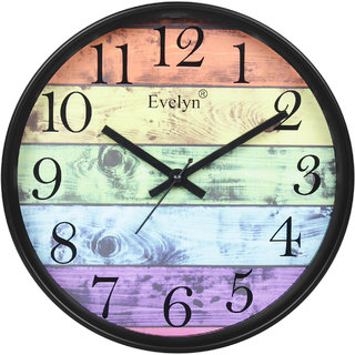 Evelyn Round Wall Clock With Glass For Home / Bedroom / Living Room / Kitchen Evc-30