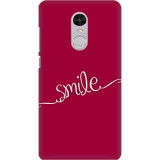 Printed Designer Back Cover For Redmi Note 5 - Smile Design