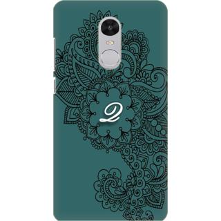 Printed Designer Back Cover For Redmi Note 5 - Ornamental Pattern Letter Alphabet Q Design