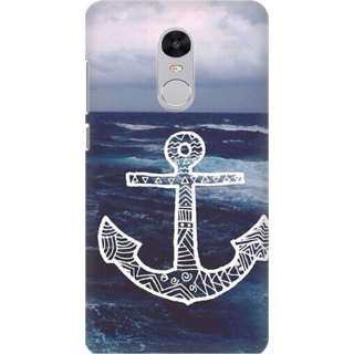 Printed Designer Back Cover For Redmi Note 5 - Anchor Design