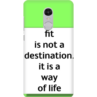 Printed Designer Back Cover For Redmi Note 5 - fit is not a destination its a way of life Design