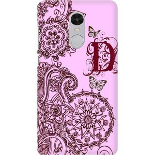 Buy Printed Designer Back Cover For Redmi Note 5 - Floral Pattern ...