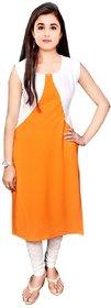 Aiza collection orange designer stitched crepe designer kurti