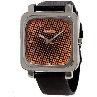 Sonata Analog Quartz Orange Mens Watch - 7089SL03