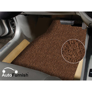 Autofurnish Anti Skid Curly Car Foot Mats (Tan) For Renault Scala
