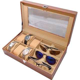 Knott Exclusive Tan Watch cum Spectacle Box