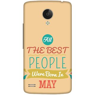 Print Opera Hard Plastic Designer Printed Phone Cover for   Vivo Y21L All Best People Born in June