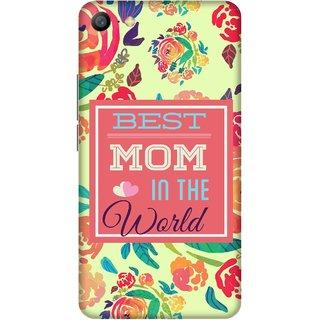 Print Opera Hard Plastic Designer Printed Phone Cover for   Vivo Y66/Vivo V5 Lite Best mom in world floral