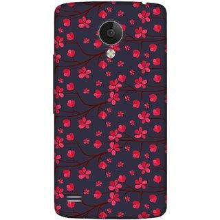 Print Opera Hard Plastic Designer Printed Phone Cover for   Vivo Y21L Beautiful artistic red flower