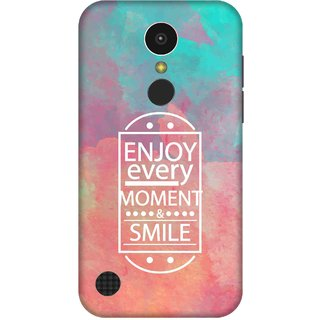 Print Opera Hard Plastic Designer Printed Phone Cover for   LG K10 (2017) Enjoy every moment and smile