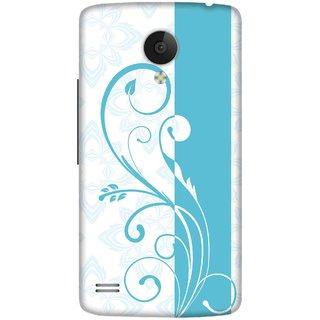 Print Opera Hard Plastic Designer Printed Phone Cover for   Vivo Y21L Blue floral