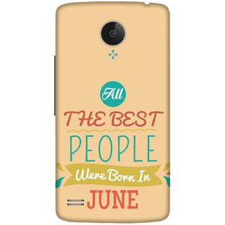 Print Opera Hard Plastic Designer Printed Phone Cover for   Vivo Y21L Best people are born in may