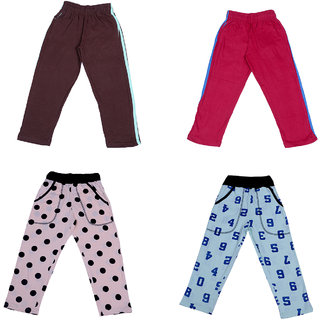 IndiWeaves kids Boy's Plain & Printed Cotton Lower/Track Pant _Cotton_Pack of 4 & 2 Open Pocket