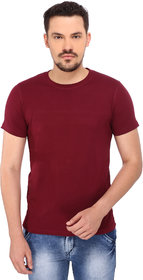 268 BCE Solid Men's Round Neck Maroon T-Shirt