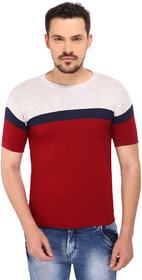 268 BCE Striped Men's Round Neck Multicolor T-Shirt