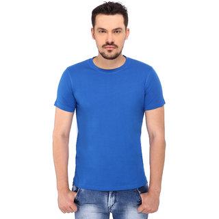 268 BCE Solid Men's Round Neck Blue T-Shirt