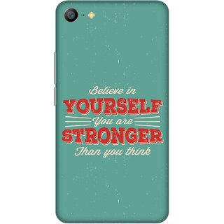 Print Opera Hard Plastic Designer Printed Phone Cover for   Vivo Y66/Vivo V5 Lite Believe in yourself