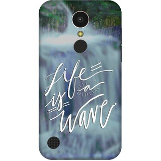 Print Opera Hard Plastic Designer Printed Phone Cover for   LG K10 (2017) Life is a wave