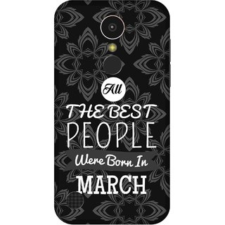 Print Opera Hard Plastic Designer Printed Phone Cover for   LG K10 (2017) All Best people are born in march