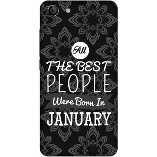 Print Opera Hard Plastic Designer Printed Phone Cover for   Vivo Y53 All Best people are born in january