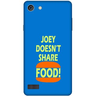 Print Opera Hard Plastic Designer Printed Phone Cover for   Oppo Neo 7 Joey doesnt share food blue background