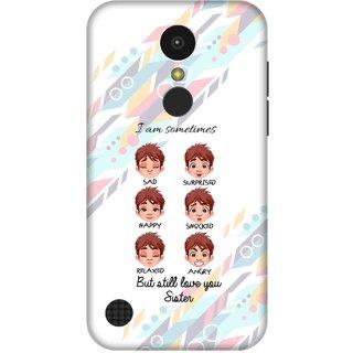 Print Opera Hard Plastic Designer Printed Phone Cover for   LG K10 (2017) Love you sister