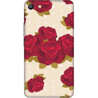 Print Opera Hard Plastic Designer Printed Phone Cover for   Vivo Y66/Vivo V5 Lite Artistic red rose with cream background