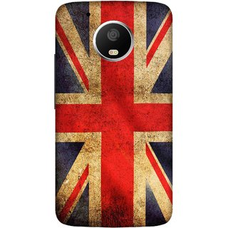 Print Opera Hard Plastic Designer Printed Phone Cover for   Moto G5 Plus UK flag grunge