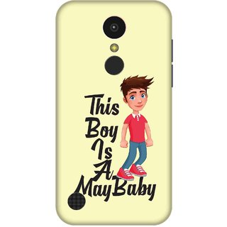 Print Opera Hard Plastic Designer Printed Phone Cover for   LG K10 (2017) This boy is a may baby