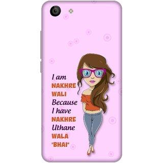 Print Opera Hard Plastic Designer Printed Phone Cover for Vivo Y53 Nakhre  wala bhai