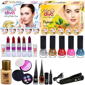 Color Diva Makeup Kit/Set Of 19 Products, C-512