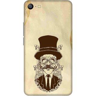 Print Opera Hard Plastic Designer Printed Phone Cover for   Vivo Y66/Vivo V5 Lite Scholastic moustache brown
