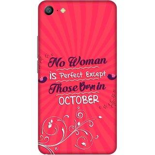 Print Opera Hard Plastic Designer Printed Phone Cover for   Vivo Y66/Vivo V5 Lite Perfect woman born in october