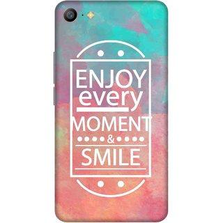 Print Opera Hard Plastic Designer Printed Phone Cover for   Vivo Y66/Vivo V5 Lite Enjoy every moment and smile