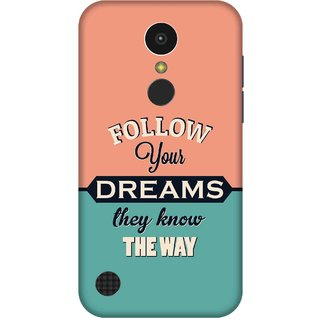 Print Opera Hard Plastic Designer Printed Phone Cover for   LG K10 (2017) Follow your dreams, They know the way