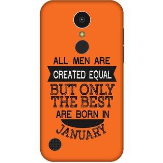 Print Opera Hard Plastic Designer Printed Phone Cover for   LG K10 (2017) Best man born in january
