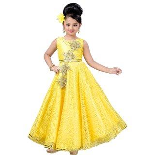 Aarika Satin, Net, Cotton Fabric Self Design Gown