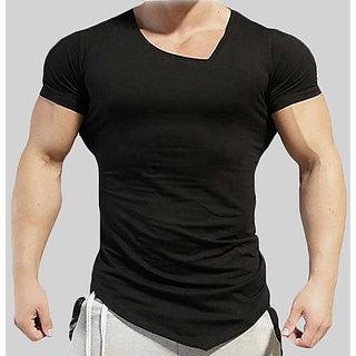 1530690f72ae0b Buy Rigo Black Stylish V-Neck T-shirt Online - Get 52% Off